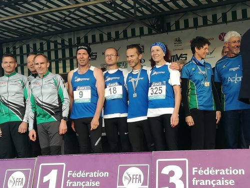EQUIPE 1 CHAMPIONNE DE FRANCE avec Didier FRISON, Jean-François TOCHON, Franz LISKOWITCH et Marie-Thérèse SEIGLE-GOUJON